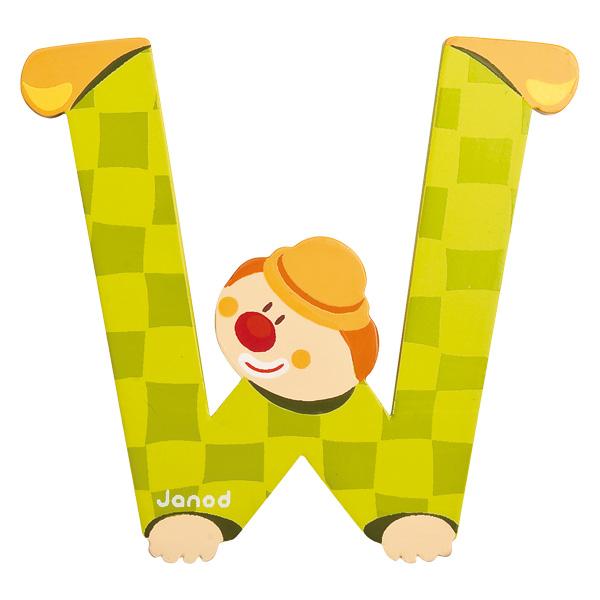 Lettre clown W