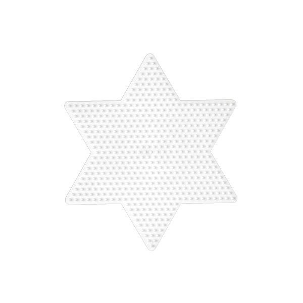 Plaque pour perles à repasser grande étoile
