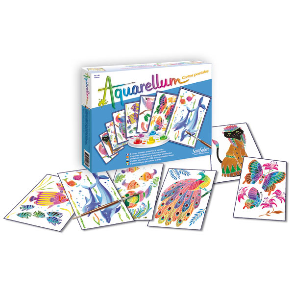 Aquarellum cartes postales animaux pour 12€