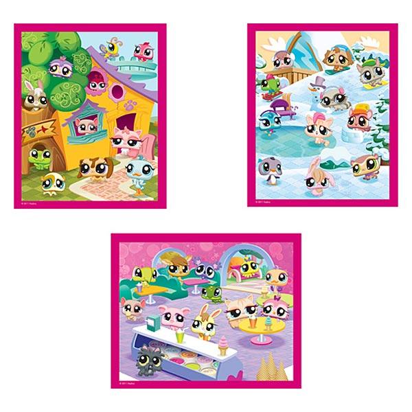 Puzzle 3x50 pièces petshop pour 12€