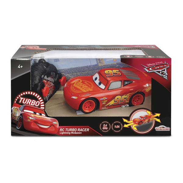 Voiture RC Flash McQueen 1/24ème Cars 3 Majorette + Fonction Turbo