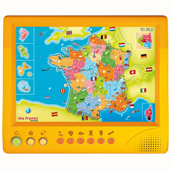 carte de france jeu interactif
