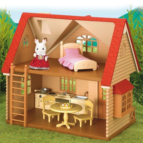 set cottage sylvanian de sylvanian. Black Bedroom Furniture Sets. Home Design Ideas