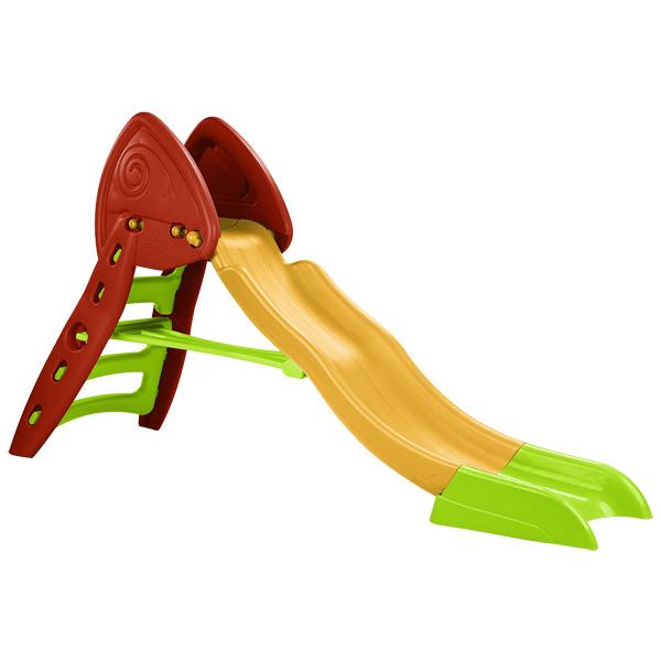Balancoire Bois Avec Toboggan King Jouet : Toboggan pliable avec une longue rampe de glissade pour le bonheur des