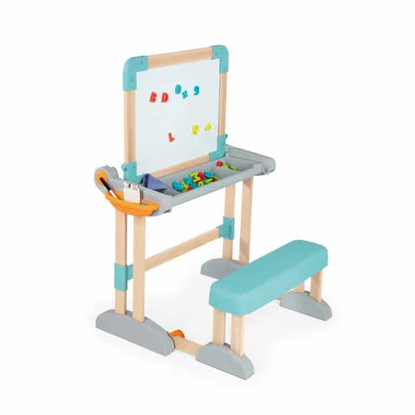 Bureau modulo space 2 en 1 pupitre tableau smoby king for Bureau 2 ans