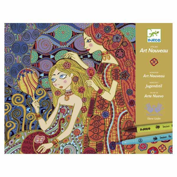 Atelier art nouveau Djeco : King Jouet, Dessin et peinture Djeco ...
