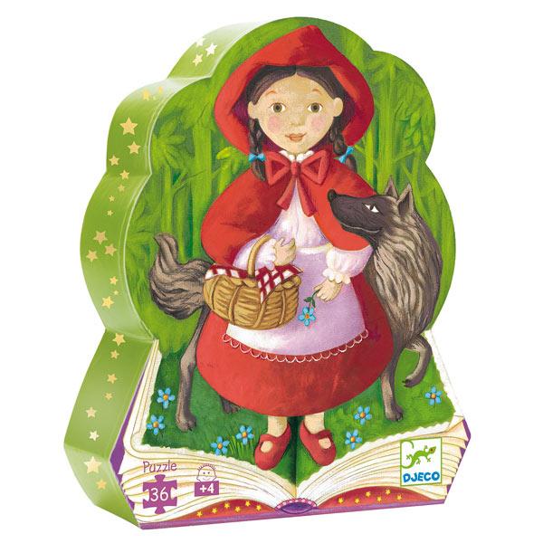 Puzzle silhouette Petit Chaperon Rouge 36 pièces