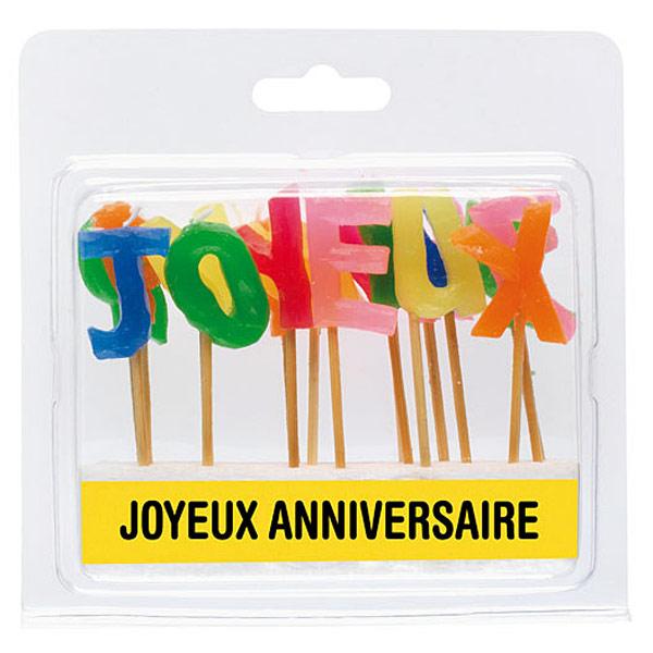 Bougies joyeux anniversaire pour 4€