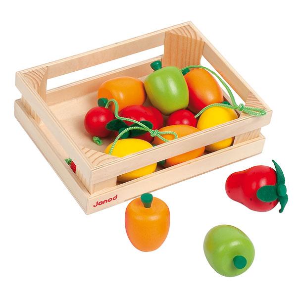Cagette de 12 fruits en bois pour 13€