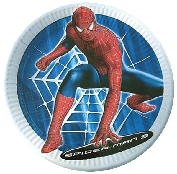 8 assiettes spiderman pour 4€