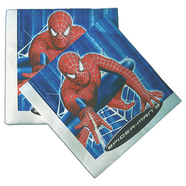 16 serviettes spiderman pour 5€