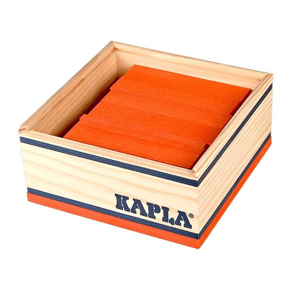 Kapla-40 planchettes en bois orange