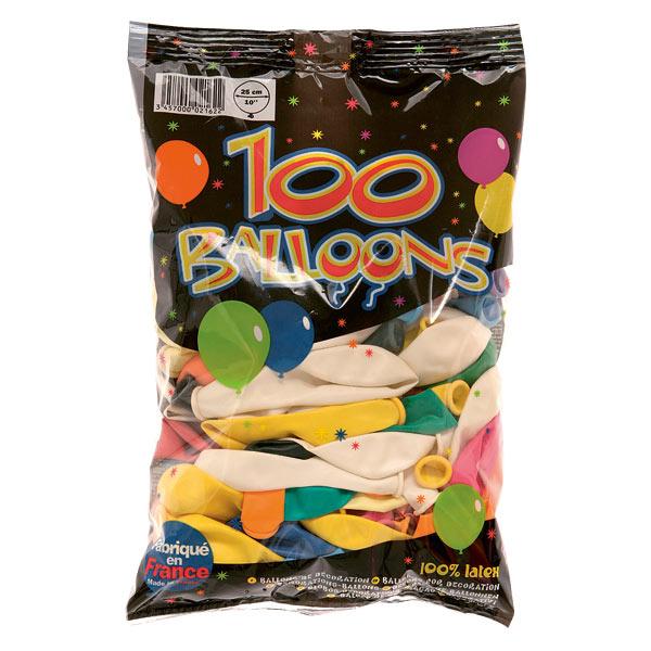 Sac 100 ballons pour 10€