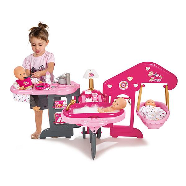 Maison des b b s smoby king jouet accessoires de poup es smoby poup es peluches - Maison de fille ...