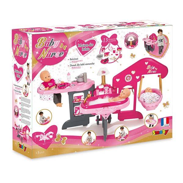 Maison des b b s smoby king jouet accessoires de for Arrivee de bebe a la maison
