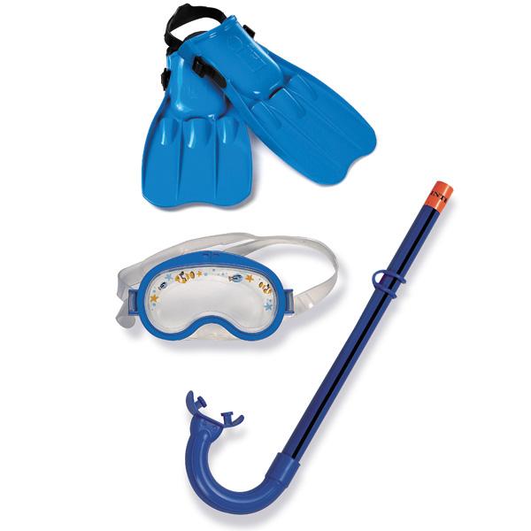 Masque tuba palmes pour enfant intex king jouet for Palmes courtes piscine