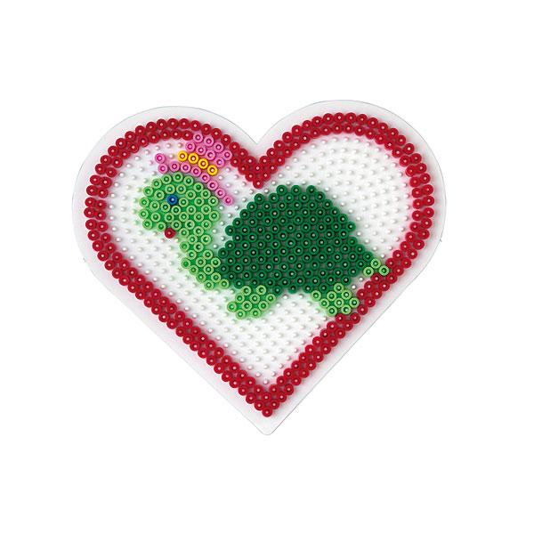 plaque pour perles repasser coeur grand mod le hama king jouet perles hama jeux cr atifs. Black Bedroom Furniture Sets. Home Design Ideas