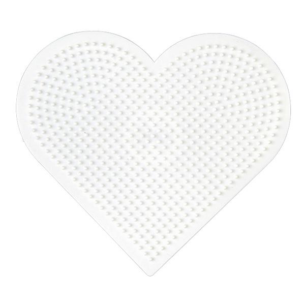 Plaque pour perles à repasser coeur grand modèle