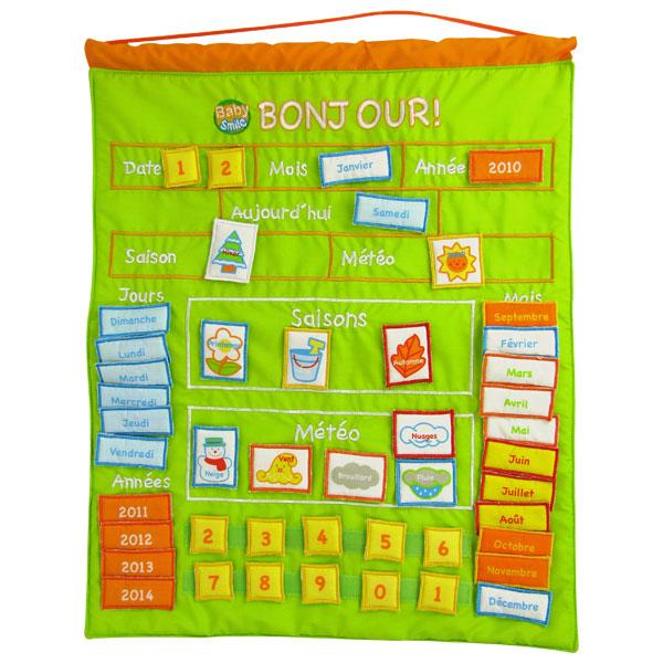 Premiers apprentissages  Jeux Créatifs  Page N° 5 ~ Calendrier Bois Enfant