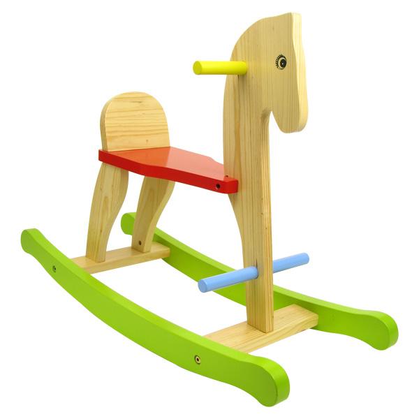 Cheval à bascule en bois pour 35€