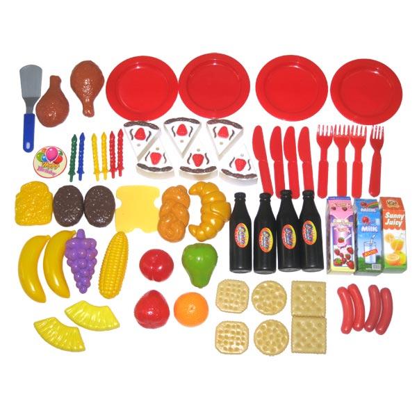 Coffret 60 aliments funny home king jouet cuisine et for Jouet dinette cuisine