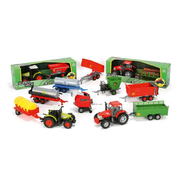 Tracteur Avec Remorque Motor Amp Co Farm King Jouet
