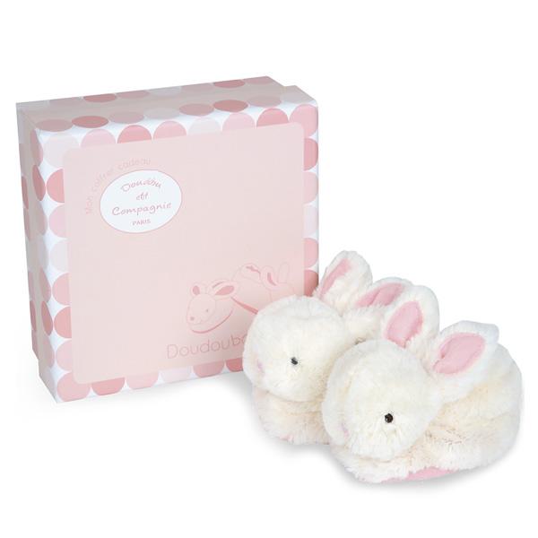 Coffret chaussons lapin bonbon rose