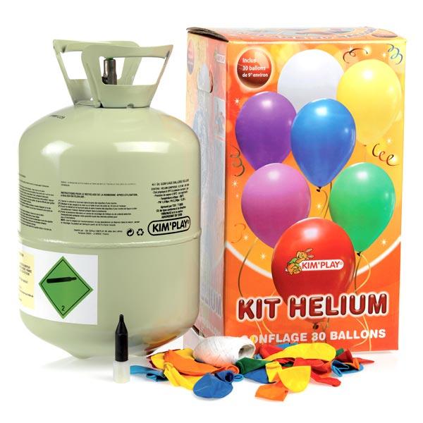 Bonbonne d 39 h lium 30 ballons kim play king jouet - Gonfler ballon sans helium ...