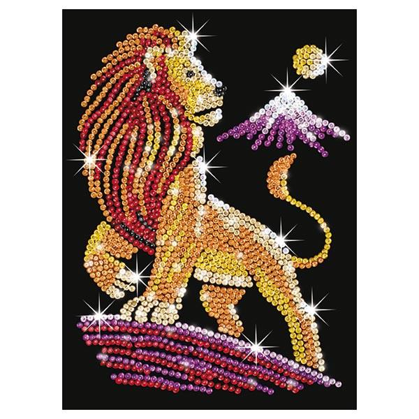 Art sequin roi lion pour 22€
