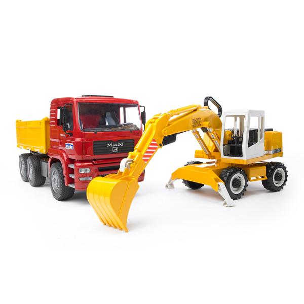Camion bruder jouet for Pelleteuse jouet exterieur