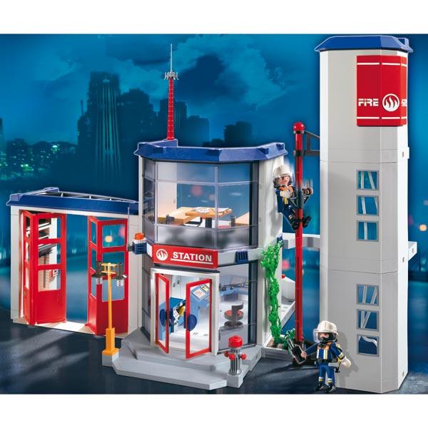 ... Caserne De Pompiers Playmobil : King Jouet, Playmobil Playmobil