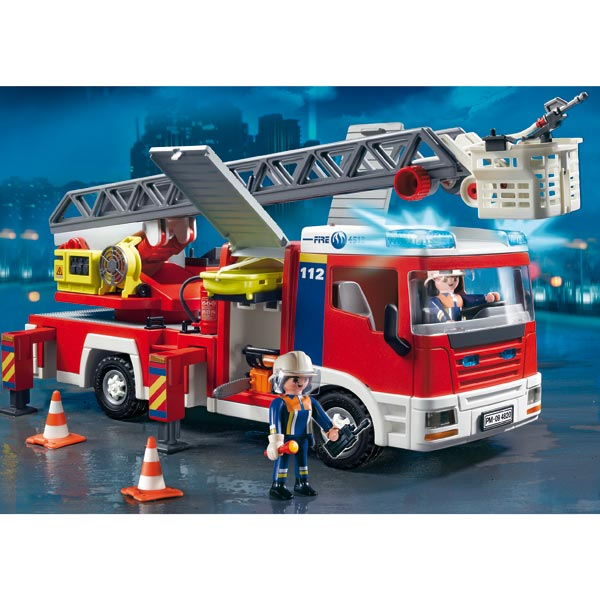 playmobil les pompiers caserne camion h licopt re. Black Bedroom Furniture Sets. Home Design Ideas