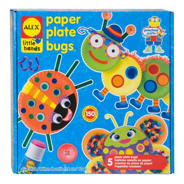Coffret création insectes assiettes en papier