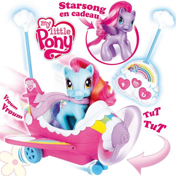 Mon petit poney : rainbow dash et son avion pour 27€