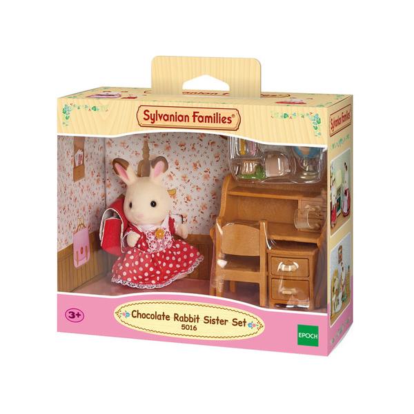 fillette lapin chocolat et bureau sylvanian sylvanian families king jouet h ros univers. Black Bedroom Furniture Sets. Home Design Ideas