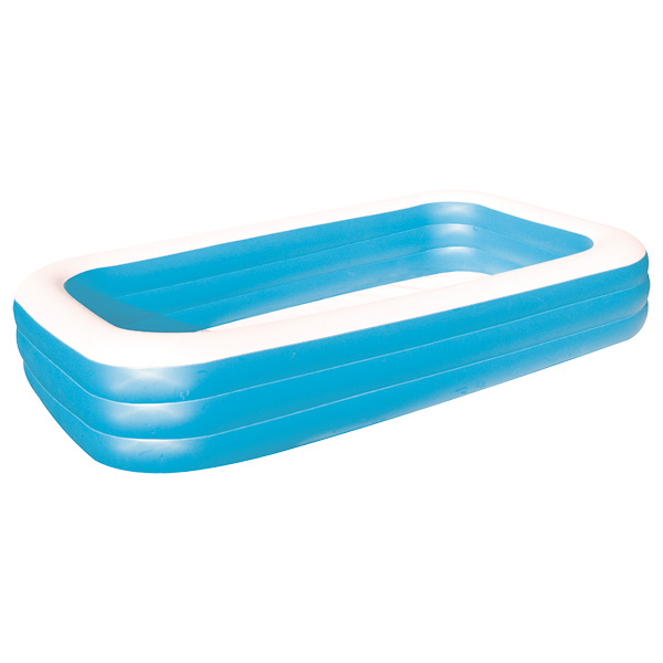 Piscine familiale rectangulaire logitoys king jouet for Piscine gonflable rectangulaire