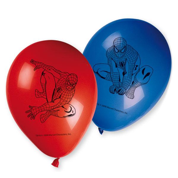 6 ballons imprimés spiderman pour 4€