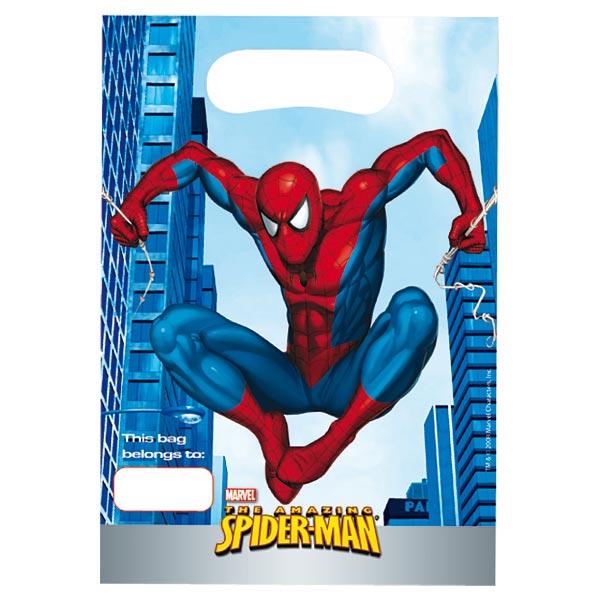 6 sacs cadeau anniversaire spiderman pour 2€