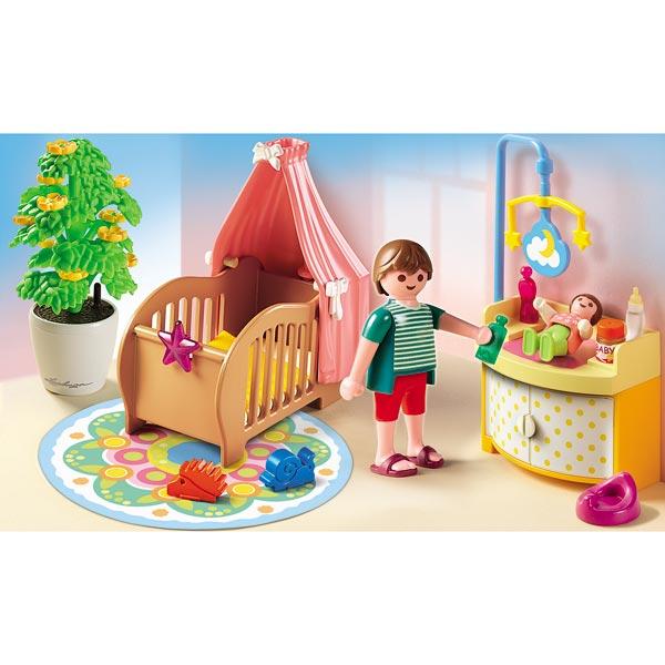 Playmobil la maison de ville chambre de b b cuisine for Playmobil cuisine 5329