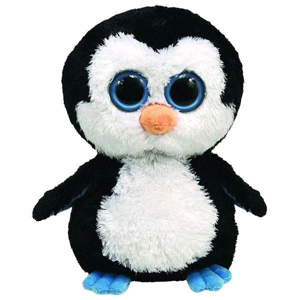 Beanie boo 39 s peluche waddles le pingouin 23 cm ty king - Toutou a gros yeux ...