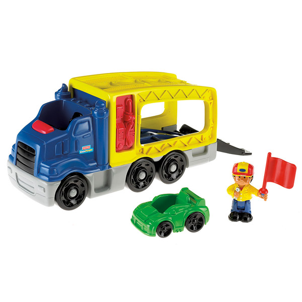 Le camion de transport de véhicules Little People de Fisher Price
