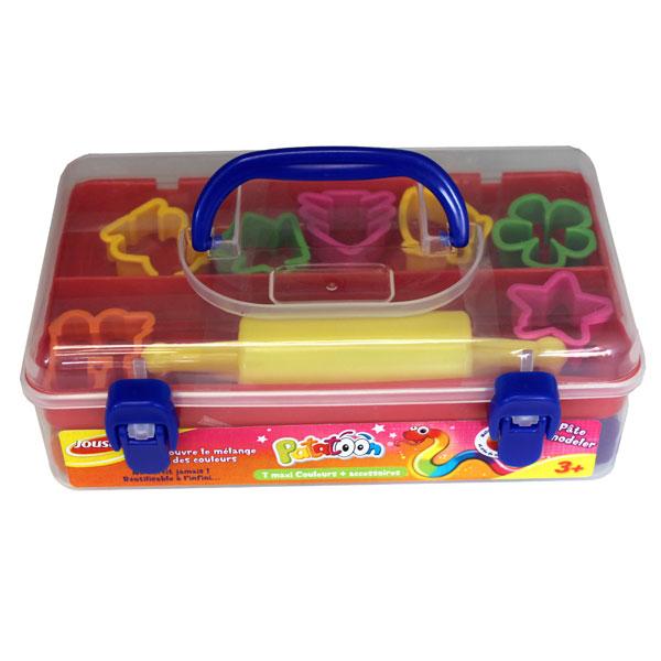 valisette p 226 te 224 modeler patatoon 7 couleurs joustra king jouet pate 224 modeler modelage et