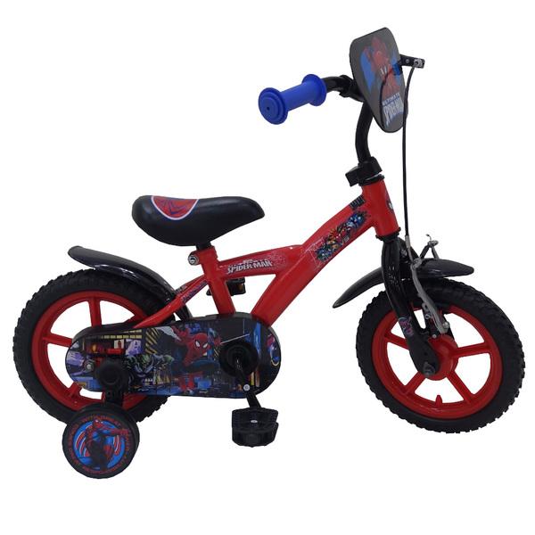 Vélo 12 pouces à l´effigie de Spiderman. Une selle et un guidon réglables en hauteur permettent de s´adapter à la stature de votre enfant. Il dispose d´un frein avant. Robuste, son cadre est en acier et les poignées, pour le confort des petites mains, son