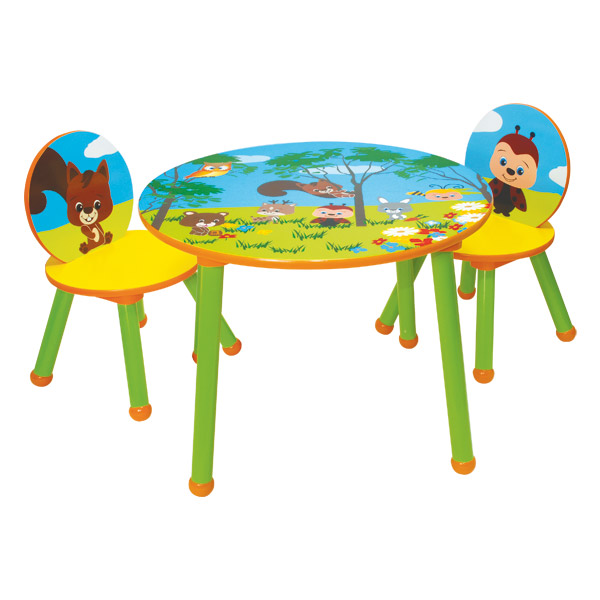 Table 2 chaises bois