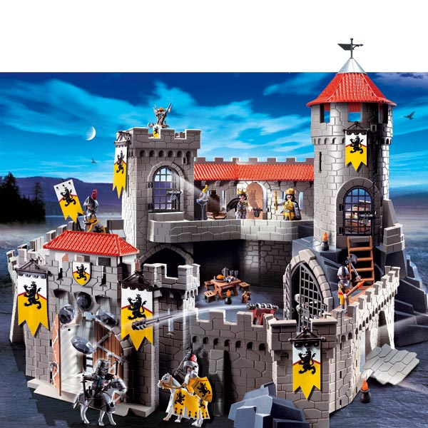 Beautiful Chateau De Chevalier Playmobil #8: 4865-Château Fort Des Chevaliers Du Lion