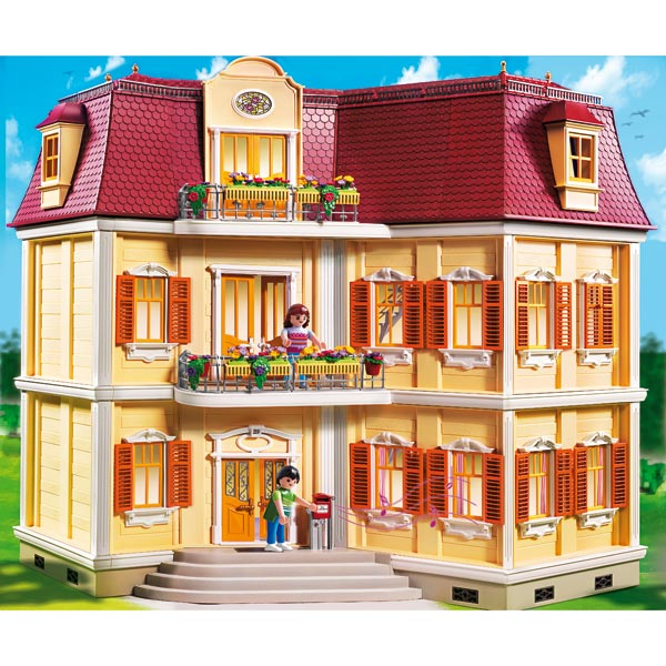 playmobil la maison de ville chambre de b b cuisine. Black Bedroom Furniture Sets. Home Design Ideas
