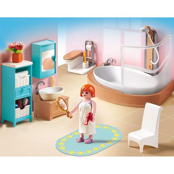 Playmobil la maison de ville chambre de b b cuisine for Prix salle de bain playmobil