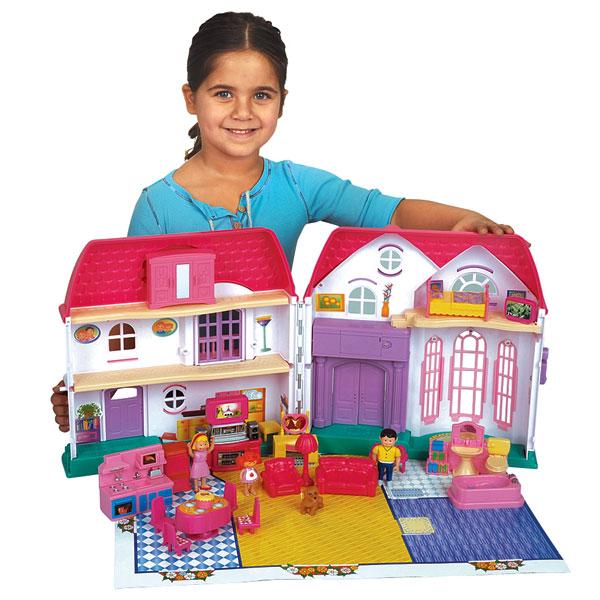 Coffret maison miniature logitoys king jouet mondes for Maison de jardin jouet