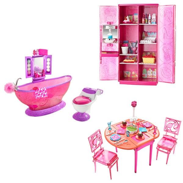 Poup e barbie et mobilier salle manger de mattel for Salle a manger mobilier de france
