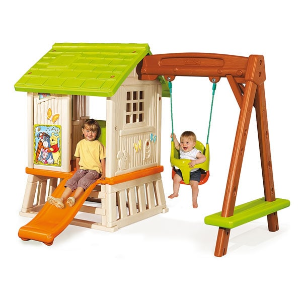 Cabane portique winnie l 39 ourson smoby king jouet for Portique exterieur